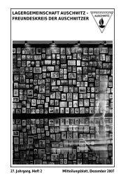 Ausgabe 2/2007 - Lagergemeinschaft Auschwitz