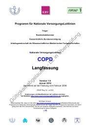 COPD - Nationale VersorgungsLeitlinien