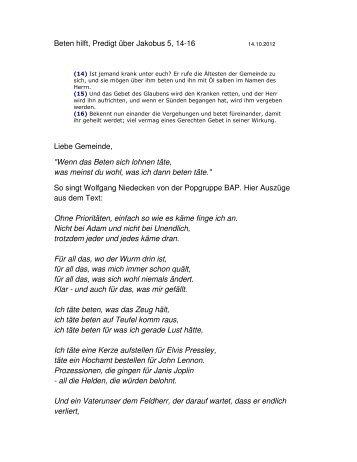 Beten hilft! - Evangelische Erasmus-alberus-Gemeinde ...