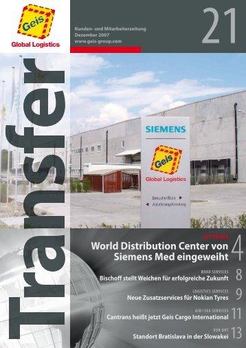 World Distribution Center von Siemens med eingeweiht - Geis SDV