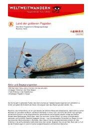 Land der goldenen Pagoden - Weltweitwandern