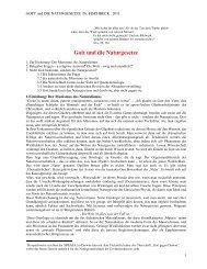 Gott und die Naturgesetze - Theologie und Naturwissenschaften