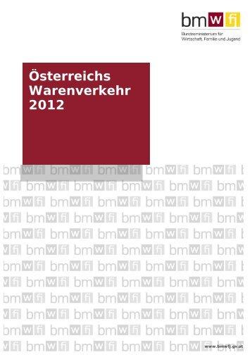 Österreichs Warenverkehr 2012