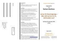 Barbara Backhaus Lernen für Neu(ro)gierige - Vortrags Netzwerk
