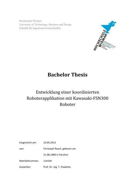 hs wismar thesis vorlage