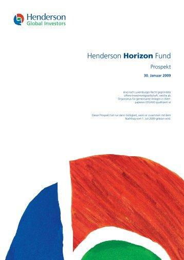 Henderson Horizon Fund - PrimeIT