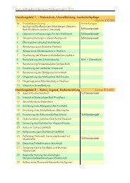 Geplante Projekte bis 2013 - LAG Aischgrund