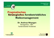 Strategisches forstbetriebliches Risikomanagement Dr. Andreas ...