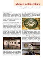 Museen in Regensburg - Statistik.regensburg.de - Stadt Regensburg