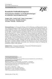 Dynamische Problemlösekompetenz - des Psychologischen Instituts