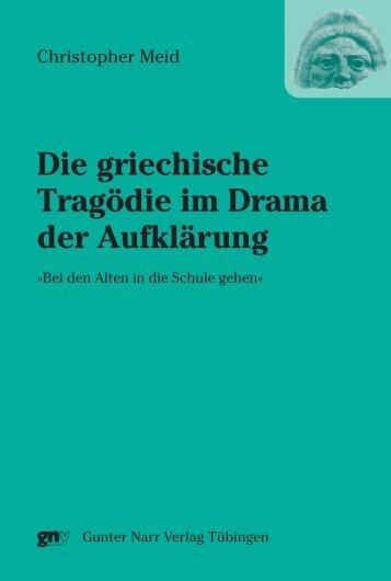 Die griechische Tragödie im Drama der Aufklärung. - im Shop von ...