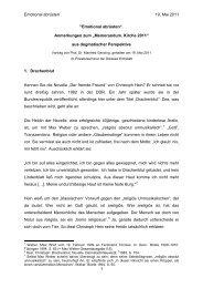 Emotional abrüsten 19. Mai 2011 1 - Katholische Universität ...