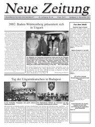 2002: Baden-Württemberg präsentiert sich in Ungarn ... - Neue Zeitung