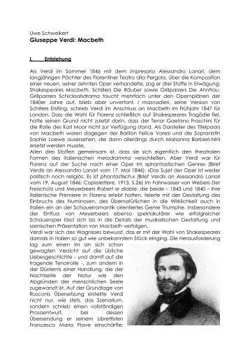 Giuseppe Verdi: Macbeth - Theater Ulm