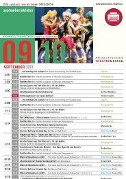 september|oktober SEPTEMBER 2013 - Anhaltisches Theater Dessau
