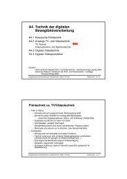 Folien - Medieninformatik - Ludwig-Maximilians-Universität München