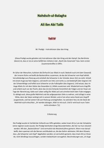 Teil 4 Nahdsch-ul-Balagha Ali ibn Abi Talib