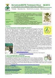 naturparkbote thüringer wald 06/2012 - Naturpark Thüringer Wald