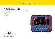 MikroDigger XC16 Handbok