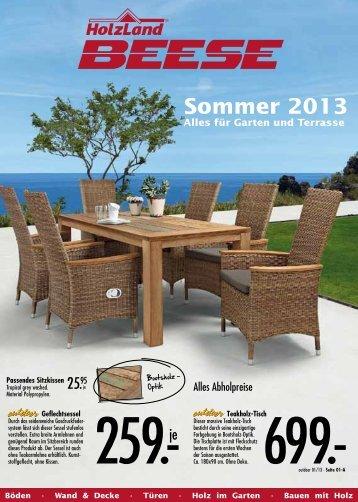 Sommer 2013 Alles für Garten und Terrasse - Holz Beese