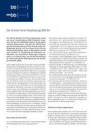 Der Entwurf einer Neufassung IDW S6