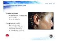 Alternative Medizin Komplementärmedizin - NeuroTransConcept
