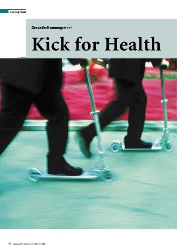 Kick for Health, managerseminare 4/2002 (als ... - Julia Wittenhagen