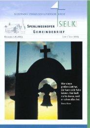 Gemeindebrief für Juni und Juli. - Dreieinigkeitsgemeinde ...