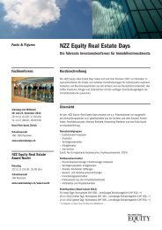NZZ Equity Real Estate Days - Leadership Dinner Real Estate