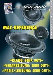 preis/leistung: sehr gut!« mac-reference - Mac Audio
