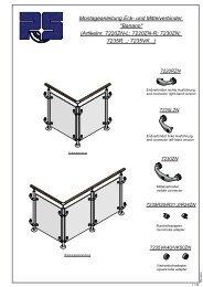 Montageanleitung Eck- und Mittelverbinder