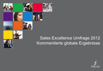 Sales Excellence Studie 2012 - mercuri.net - Mercuri International