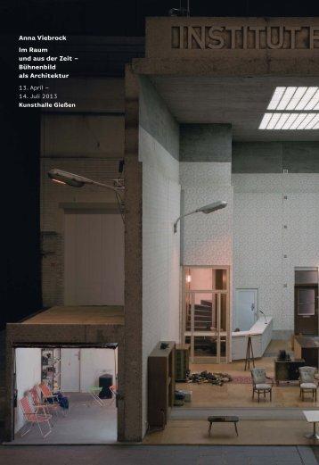 Anna Viebrock Im Raum und aus der Zeit - Kunsthalle Gießen