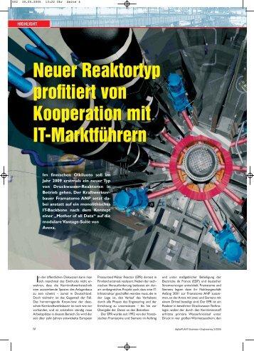 Neuer Reaktortyp profitiert von Kooperation mit IT ... - AVEVA Gmbh