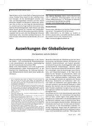 Auswirkungen der Globalisierung - Euro-Betriebsrat.de