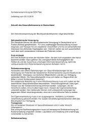 Vertreterversammlung der BZK Pfalz Leitantrag vom 03.12.2010 ...