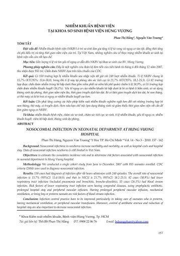 Toàn văn pdf - Tap chi Y Hoc Thanh Pho Ho Chi Minh