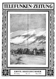 Telefunken-Zeitung 3.Jahrgang Nr.15 Mai 1919