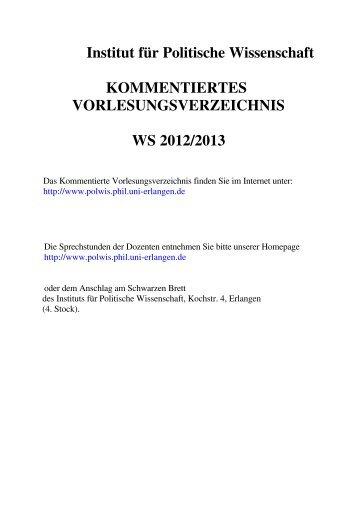 Wintersemester 2012/13 (PDF, 218 kB) - Institut für Politische ...