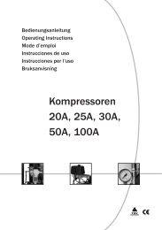 Kompressoren 20A, 25A, 30A, 50A, 100A - Airbrush shop