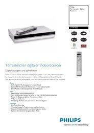 DTR7005/00 Philips Terrestrischer Digital-Receiver