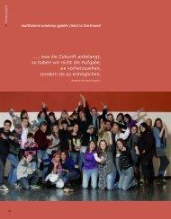 Jahresbericht 2009 der MAHLE Stiftung - multilateral academy