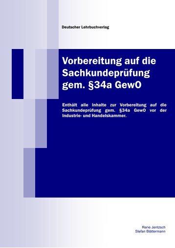 Leseprobe Sachkundebuch § 34a GewO