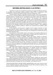 Istoria metrologiei 65 REFORMA METROLOGICĂ A LUI PETRU I