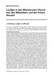 Liudger in den Münsteraner Chroniken des Mittelalters und der ...