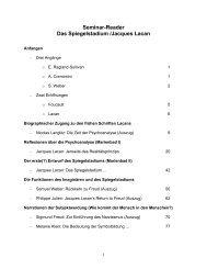 Seminar-Reader Das Spiegelstadium /Jacques Lacan
