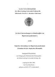 In vitro-Untersuchungen zu Inhaltsstoffen von Hypericum perforatum ...
