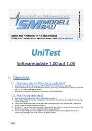 UniTest Softwareupdate 1.05 - SM-Modellbau