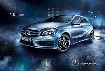 Das Prospekt der A-Klasse W176 von Mercedes-Benz.