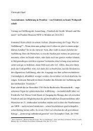 Aufklärung in Preußen – von Friedrich zu Kants ... - Christoph Zöpel